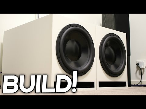 DIY LOUD SUBWOOFER BOX BUILD!