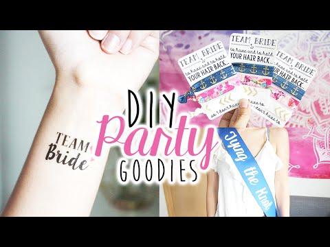DIY Party Gift Favors & Accessories   Bachelorette