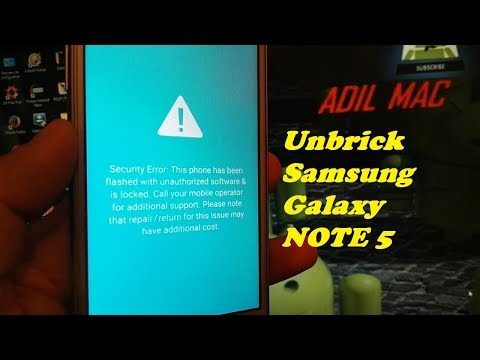 Unbrick samsung NOTE 5 FIX an error has occured while updating