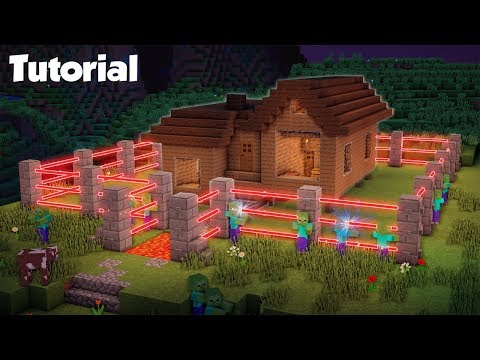 Minecraft: How to Build a Mob Proof Wooden House Tutorial  - (Safe Redstone House)