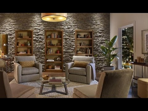 Create an Accent Wall with Faux Stone Panels