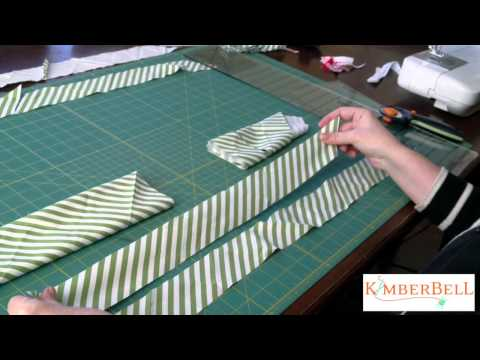 Kimberbell Designs - How to Make Bias Binding from a Fat Quarter of Fabric