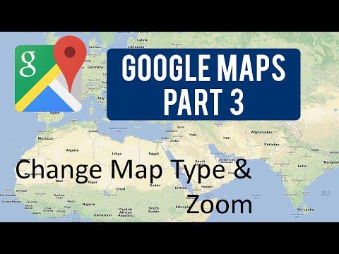 Google Maps Tutorial : Part 3 (Change Map Type & Zoom)