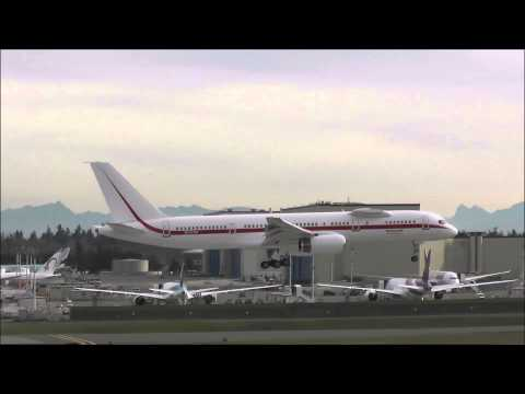 Paine Field Everett Spotting ✈ Honeywell Boeing 757-200 Engine Testbed