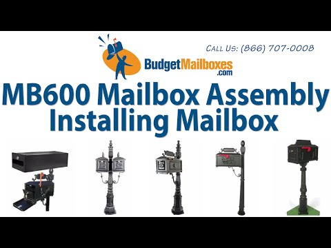 Budget Mailboxes | MB600 Mailbox Assembly - Installing Mailbox