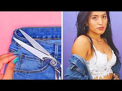 (как вариант) Не выбрасываем старые джинсы! 25 ЖЕНСКИХ ИДЕЙ. Интересные DIY