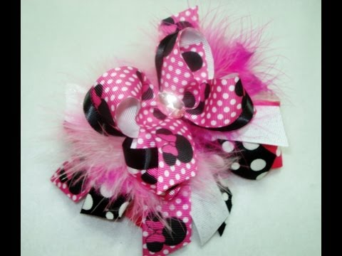 How to Put Marabou on a Hair Bow