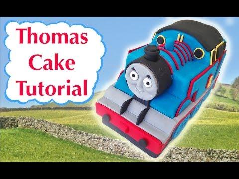 Thomas Train Birthday Cake HOW TO COOK THAT Ann Reardon 3D fondant