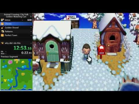 Animal Crossing: City Folk Golden Watering Can Speedrun in 4:02:02 [WR]