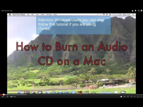 How to burn a cd on a Mac or PC using iTunes