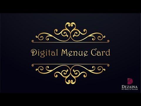 Restaurant Menu Card | Dezaina