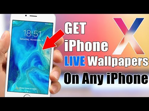 Download The iPhone X Exclusive LIVE Wallpapers On Any iPhone !