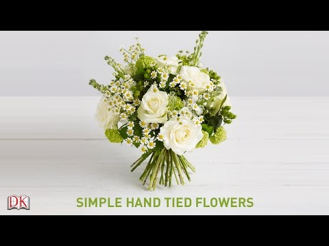 Flower Arrangement Tutorial: Simple Hand Tied Flowers
