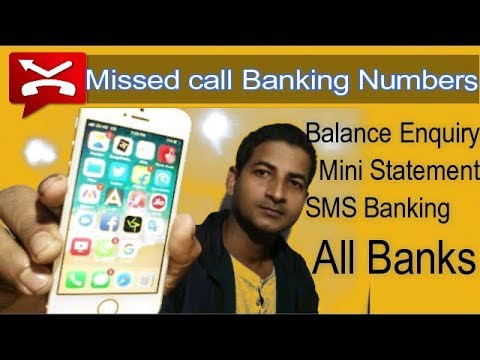 Miss call balance inquiry of all banks.sbi,axis bank,HDFC,dena bank,canarabank,ICICI bank,yes bank..