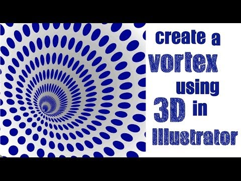 Create a 3D Vortex Shape in Adobe Illustrator - Learn to Spiral a Pattern into a Cone