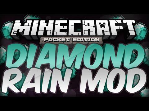 Diamond Rain Mod !! [0.90-0.9.5] - Minecraft PE
