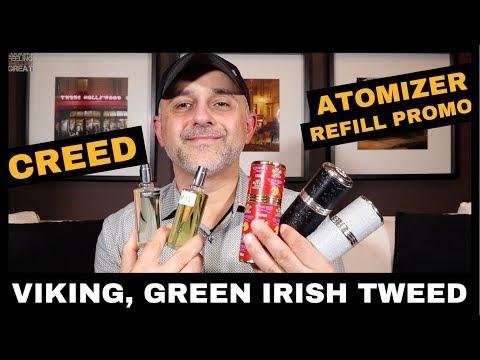 Creed Atomizer Refill Promotion With Viking, Green Irish Tweed + Vaulted Windsor, Royal Ceylan