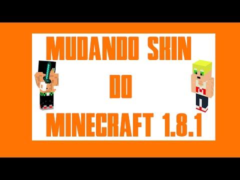 Como Mudar skin do minecraft 1.8.1 Pirata .