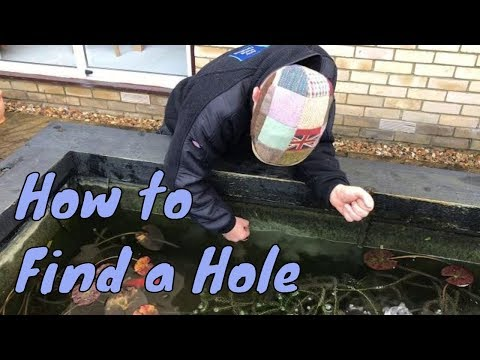 How to find a hole in a pond thats leaking - Emergency Fish Pond Repairs