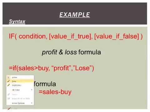 M.S. Excel-2010 funation/formula Find Profit & Loss part-13 (hindi)