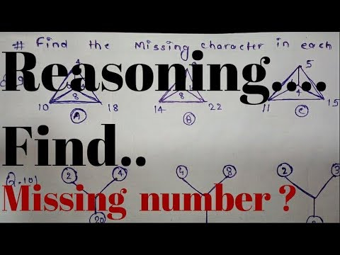 Reasoning missing characters ( numbers) Part -2.