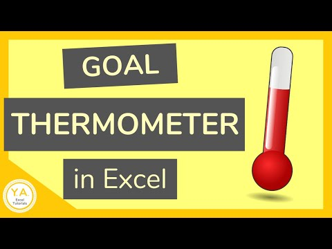 How to Make a Goal Thermometer in Excel - Tutorial