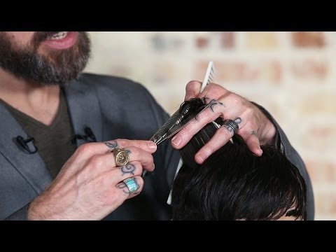 Cutting Hair With Thinning Shears