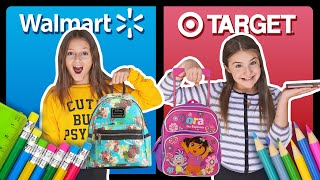 BACK TO SCHOOL SHOPPING HAUL **Target vs Walmart CHALLENGE** ✏️📚| Sophie Fergi Piper Rockelle