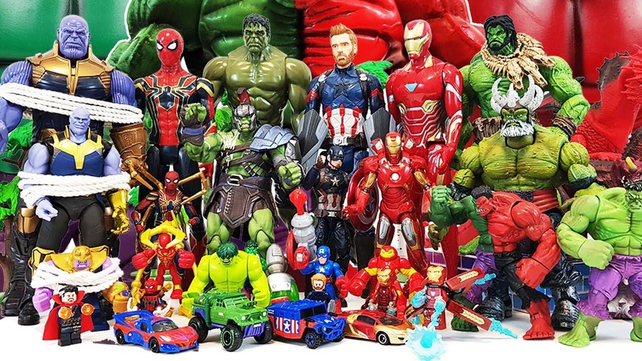 Hulk vs Thanos Battle! Avengers Go~! Iron Man, Captain America, Venom, She-Hulk, Spider-Man!
