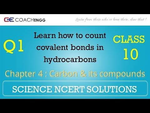 Carbon and its compounds Question 1 Chapter 4 Class 10 NCERT Solutions Exercise