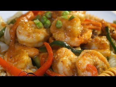 HOW TO MAKE CHINESE SWEET & SPICY stir Fry JUMBO SHRIMP RECIPE