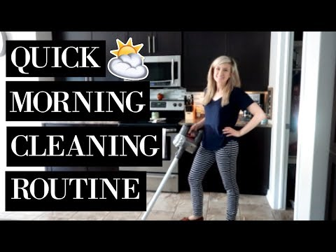 CLEAN MY HOUSE WITH ME 2018 | QUICK MORNING CLEANING ROUTINE SAHM Extreme Cleaning Motivation