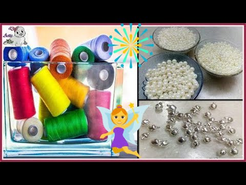 #167 How to Make Pearl Beaded Silk Thread Necklace    Diy    Jewellery Making