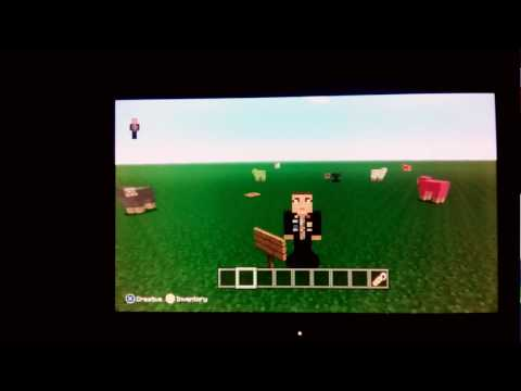 How to make animals turn upside down in minecraft xbox 360!