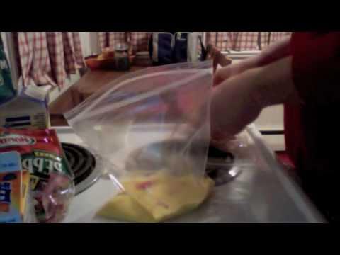 How to make an Omelet in a bag (Ziploc) Batch Breakfast