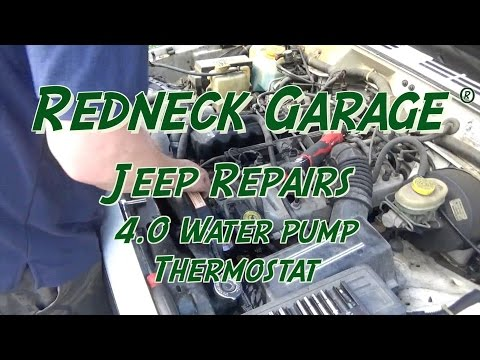 Jeep Cherokee 4.0 Water Pump Replace and Repairs