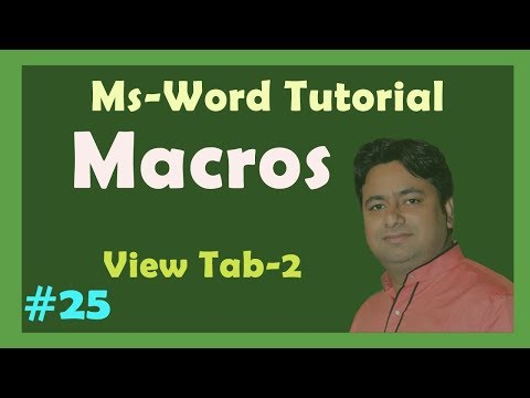 Day-25 : Macro Command in MS-word (How to create shortcut for Document) in HIndi by Manoj  Sir