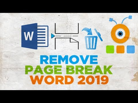 How to Remove a Page Break in Word 2019   How to Delete a Page Break in Word 2019
