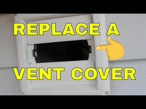 REPLACING An Outside Vent Cover or Hood on Dryer Vent or Bathroom Vent on Roof