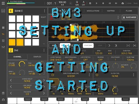 BeatMaker 3 - BM3 - Setting up And Getting Started - Demo for the iPad