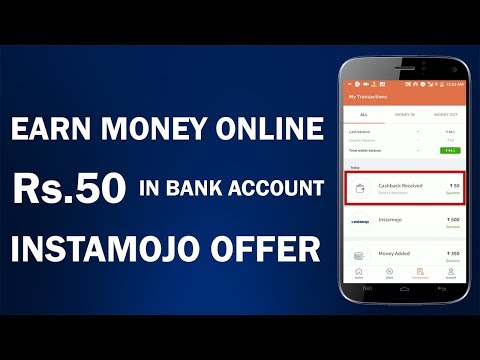 Freecharge-Instamojo Offer !! Get Rs.50 in Bank Account !! New Earn Money Online Offer 2018 !!