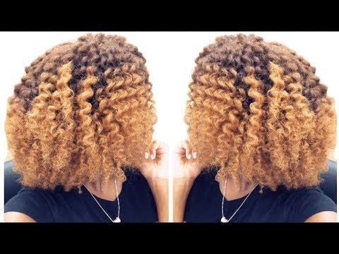 Flat Twist On My Newly Colored Hair!   W/ Mielle Organics