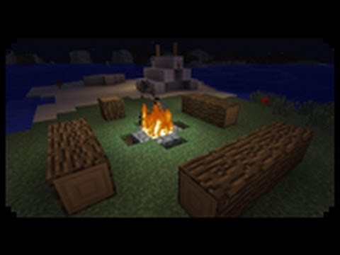✔ Minecraft: How to make a Decorative Tent and Campfire