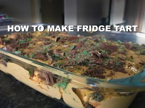 How to make Peppermint crisp fridge tart