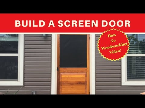 Build a Simple Screen Door - DIY - Wood working