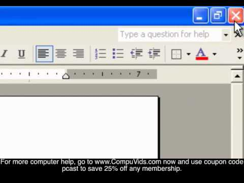 Windows XP - How to Start and Stop Software