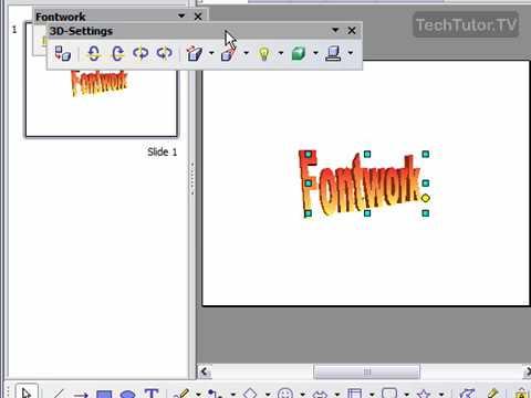 Create Fontwork in OpenOffice Impress