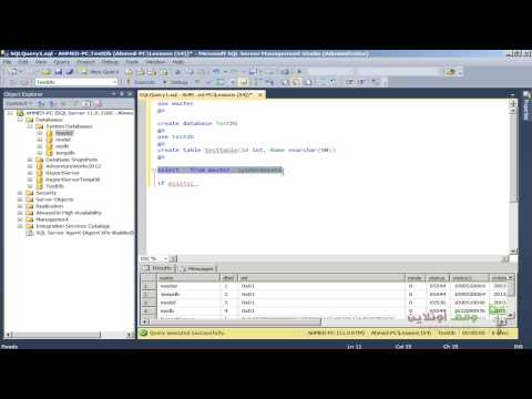 Sql Server 2008 123 exists db query