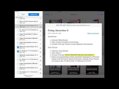 iTunes U App for iPad iOS 7