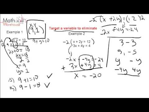 1.2 Elimination method for Solving Systems of Linear Equations